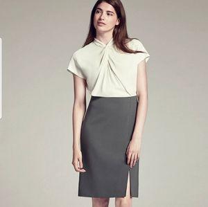 M.M Lafleur Adelaide Dress Cream/Gray EUC Size 10
